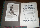 Book published by Valentine & Sons  -  Humerous Scottish War Stories