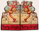 The front and back covers of a children's book by Valentine & Sons Ltd  -  Merry and Bright