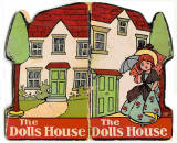 The front and back covers of a children's book by Valentine & Sons Ltd  -  The Doll's House