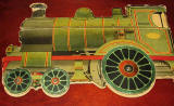 The back cover of  a children's 'book toy' by Valentine & Sons Ltd  -  'The Story of the Railway Engine'