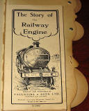 The title page of  a children's 'book toy' by Valentine & Sons Ltd  -  'The Story of the Railway Engine'