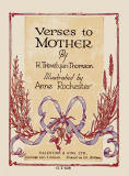 The frontispiece of a small book in Valentine's 'Golden Thoughts' series of booklets  -  Verses to Mother