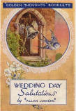 The cover of a small book in Valentine's 'Golden Thoughts' series of booklets  - Wedding Day Salutations