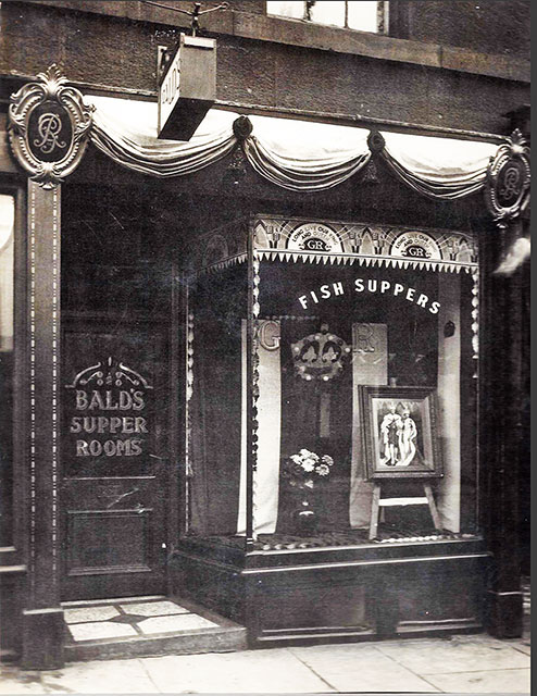 Bald's Supper Rooms - A Fish & Chip Shop at Montrose Terrace, Abbeyhill, Edinburgh