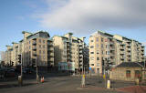 Britannia Quay, new appartments near the Ocean Terminal entrance to Leith Docks