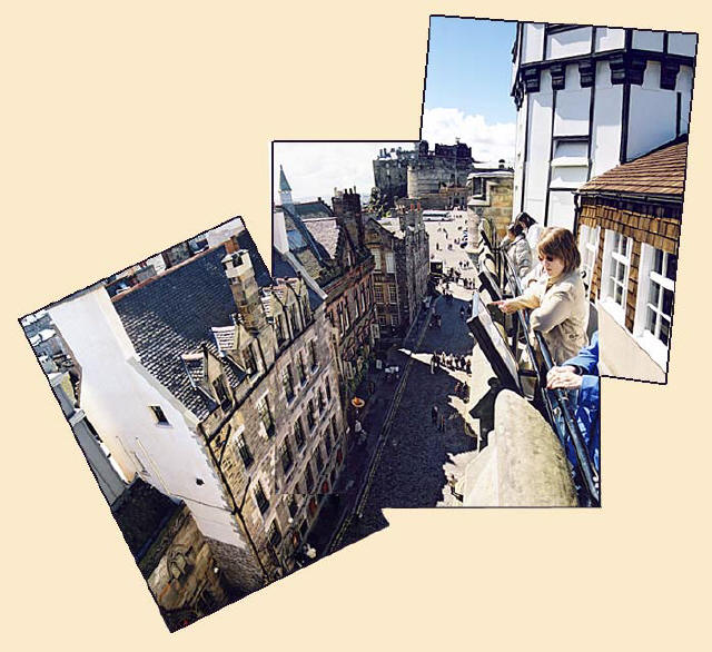 View from the Camera Obscura  -  Castlehil   -  A picture compiled from four photographs