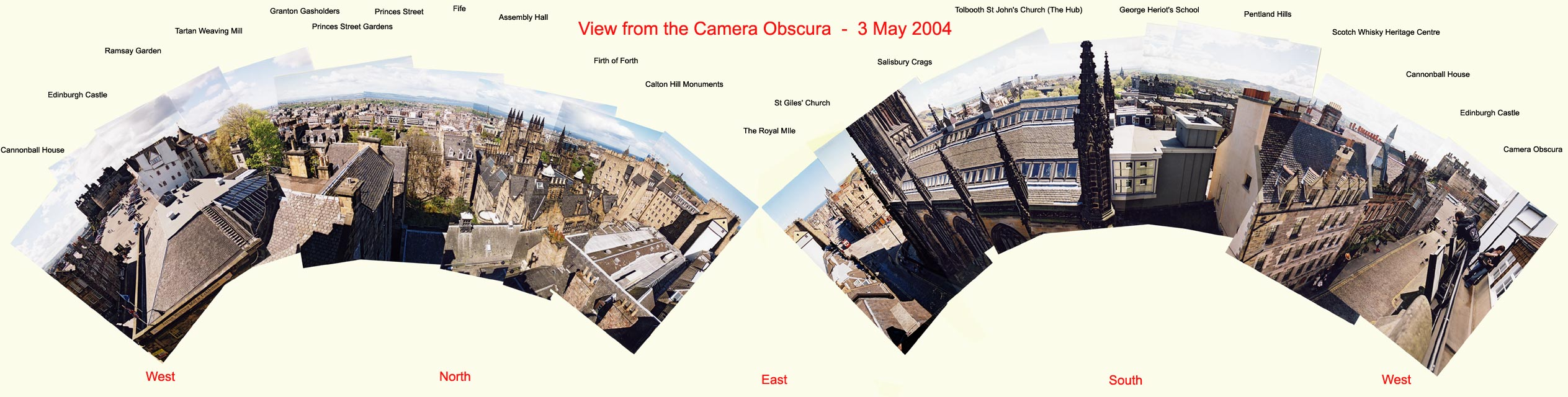 Panoramic View of Edinburgh from the Camera Obscura