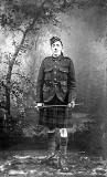 Jimmy gordon, one of the men photographed at Central Bar, Leith  -  wearing his Gordon Highlanders' uniform