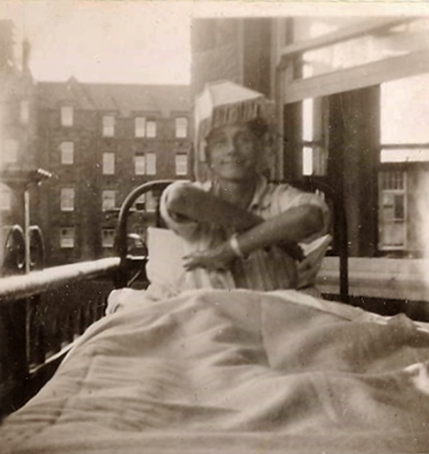 TB Patient at the City Hospital  -  photo taken around 1948-52