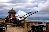 Edinburgh Castle  -  '21 Gun Salute' to celebrate The Queen's Official Birthday  -  June 15, 2013
