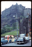 Photograph taken by Charles W Cushman in 1961 - Grassmarket and Edinburgh Castle