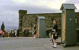 Guards on the Esplanade at the entrance to Edinburgh Castle  -  1962