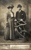 Photograph from the studio of R Brown  -  James and Christina David, grandparents of David Stewart