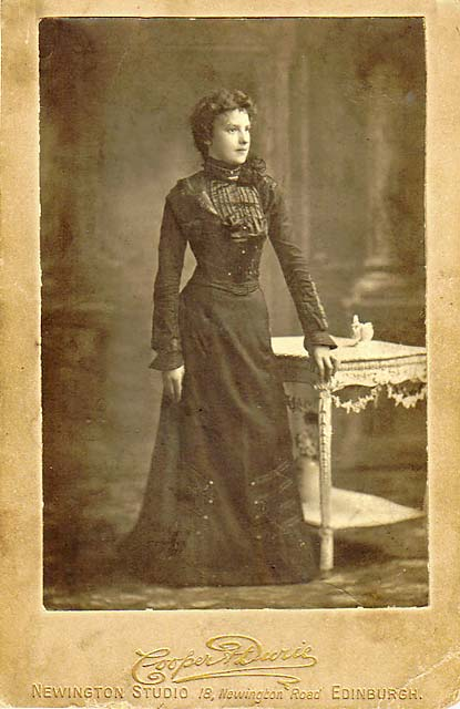 Cabinet Print by Cooper & Durie  -  a 21st Birthday portrait in 1901