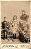 Cabinet Print by Forrest  -  Lady with two children in highland dress