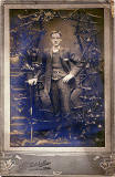 Cabinet print from the studio of Grierson Gordon Mitchel  -  Young man and trellis