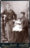 Cabinet Print by Parisian Photo Company  -  Couple and baby