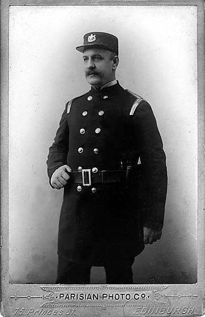 Cabinet Print by Parisian Photo Company  -  Bryan Gourlay's Great-grandfather in Fire Officer's Uniform