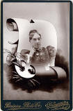 Cabinet Print by Parisian Photo Company  -  Lady and scroll