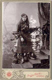 Cabinet Print by Parisian Photo Company  - Lady and stairs