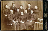 Portrait from the studio of A & G Taylor, Edinburgh  -  10 members of the family of Derek Orange, Kirkcaldy, Fife, Scotland