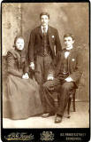 Portrait from the studio of A & G Taylor, Edinburgh  -  3 members of the family of Derek Orange, Kirkcaldy, Fife, Scotland