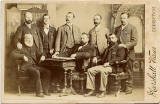 Marshall Wane  -  Cabinet Print  -  A Group of Men  -  Who are they?