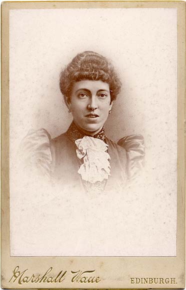 Marshall Wane  -  Cabinet Print  -  A Vignette Photograph of a Lady