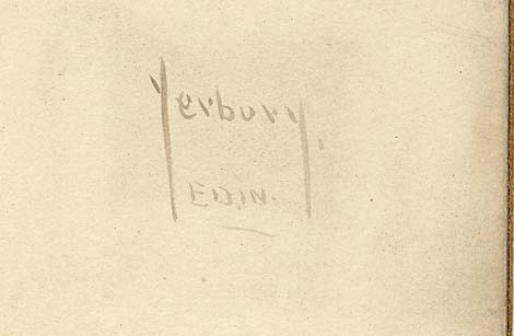 Enlargement of the name from a plationtype print by Yerbury of Edinburgh
