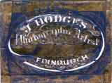 A metal stencil used by the early Edinburgh Photographic Artist, James Hodges