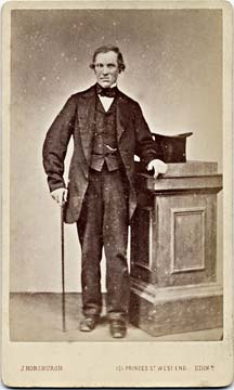 A carte de visite by John Horsburgh   -  man with stick and top hat
