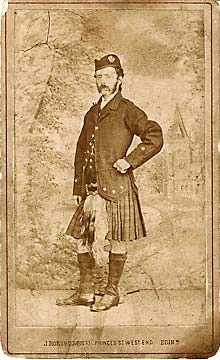 A carte de visite by John Horsburgh  -  the Edinburgh and Hawick photographer, George Oman
