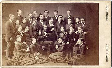 James Howie Junior  -   carte de visite  -  Cowgate Free Church Choir  -  November 19, 1878