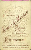 Lawrie & Mitchell  -  the back of a carte de visite