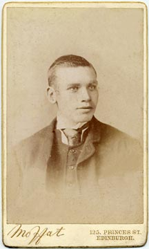 John Moffat  -  Carte de visite  -  around 1890 to 1897  -  Youth