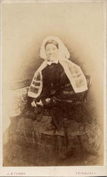 The back of a carte de visiet by James Good Tunny  -  1860-1870  - Mrs C