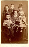 JG Tunny - Carte de Visite - 5 Tunny Children and their Nanny