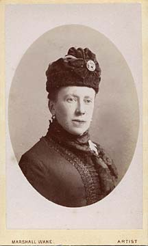 Carte de visite from the Edinburgh studio of Marshall Wane  -  Lady with hat and badge