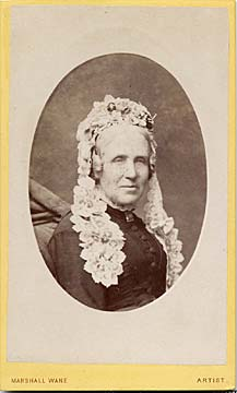Carte de visite from the Edinburgh studio of Marshall Wane  -  Old Lady
