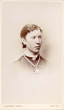 Carte de visite from the Edinburgh studio of Marshall Wane  -  Lady with Neclace and Lace