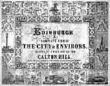 Cover of a book of engravings, published 1847 - Views from Calton Hill