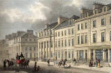 Engraving from 'Modern Ahens'  -  hand-coloured  -  St Andrew Square