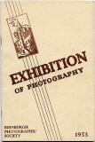 Catalogue cover  -  EPS Open Exhibition, 1953