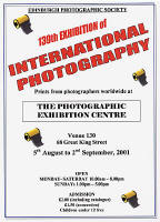 Edinburgh Photographic Society - Poster for 139th Annual International Exhibition of Photography  -  2001