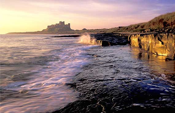 A photograph by Brian D Clark ARPS, DPAGB,  Dundee Photographic Society, entitled 'Morning Light - Bambrough'.  This is one of the photographs accepted in the Edinburgh Photographic Society International Exhibition of Photography, 2005