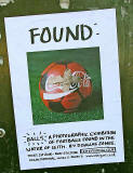 'Found'  -  An exhibition of footballs found in the Water of Leith  -  June 2006