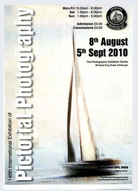 A poster for the EPS International Exhibition of Photography 2010, featuring a photo by Michael Howell ARPS DPAGB