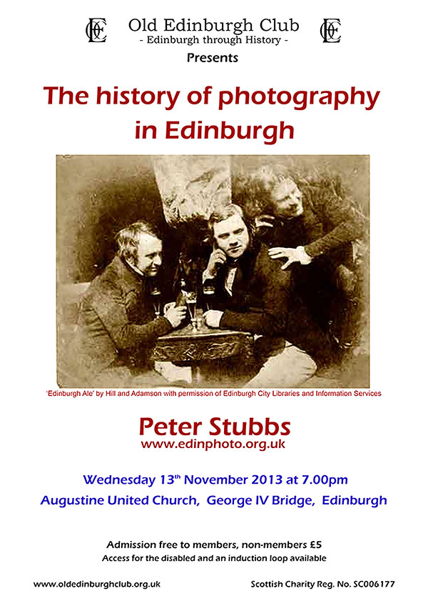 Poster for Old Edinburgh Club Lecture - December 2012