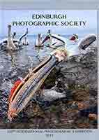 Edinburgh Photographic Society Open Exhibition 2015, Catalogue Cover. featuring a photo by Michael Hughes AFIAP DPAGB, England, entitled 'One Fine Day'