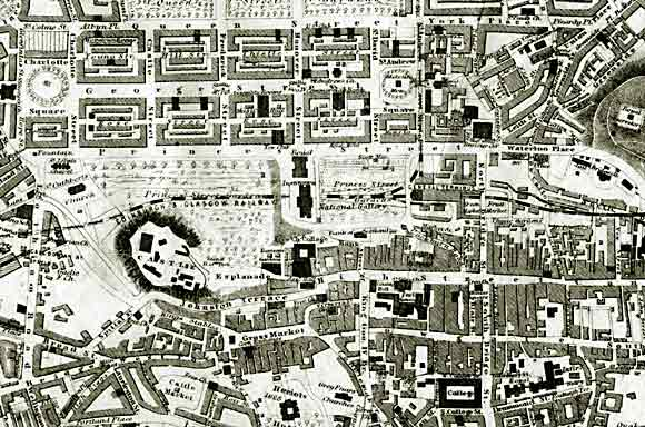 Edinburgh map  -  1860  -  with option to zoom in and out